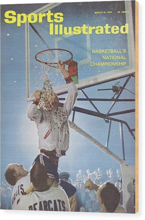 Magazine Cover Wood Print featuring the photograph University Of Cincinnati Larry Shingleton, 1962 Ncaa Sports Illustrated Cover by Sports Illustrated