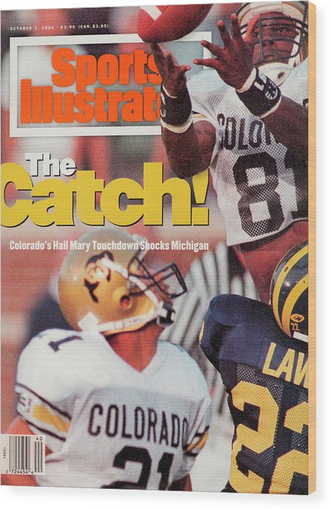 Magazine Cover Wood Print featuring the photograph University Of Colorado Michael Westbrook Sports Illustrated Cover by Sports Illustrated