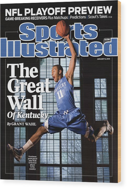 Point Guard Wood Print featuring the photograph University Of Kentucky John Wall Sports Illustrated Cover by Sports Illustrated