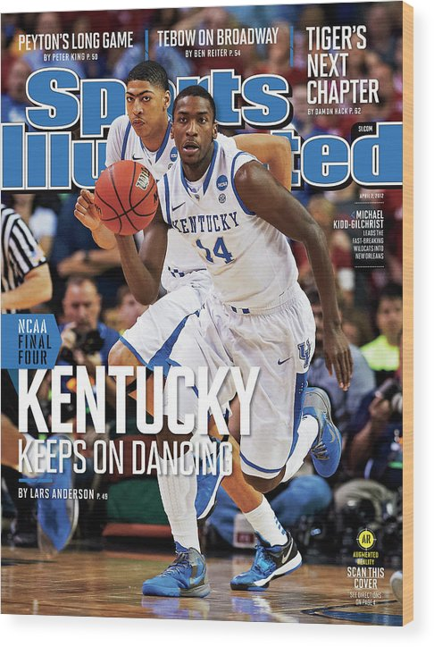 Atlanta Wood Print featuring the photograph University Of Kentucky Michael Kidd-gilchrist, 2012 Ncaa Sports Illustrated Cover by Sports Illustrated