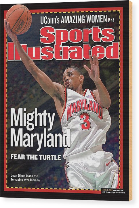 Atlanta Wood Print featuring the photograph University Of Maryland Juan Dixon, 2002 Ncaa National Sports Illustrated Cover by Sports Illustrated