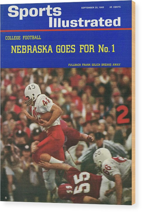 Frank Solich Wood Print featuring the photograph University Of Nebraska Frank Solich, 1965 Cotton Bowl Sports Illustrated Cover by Sports Illustrated
