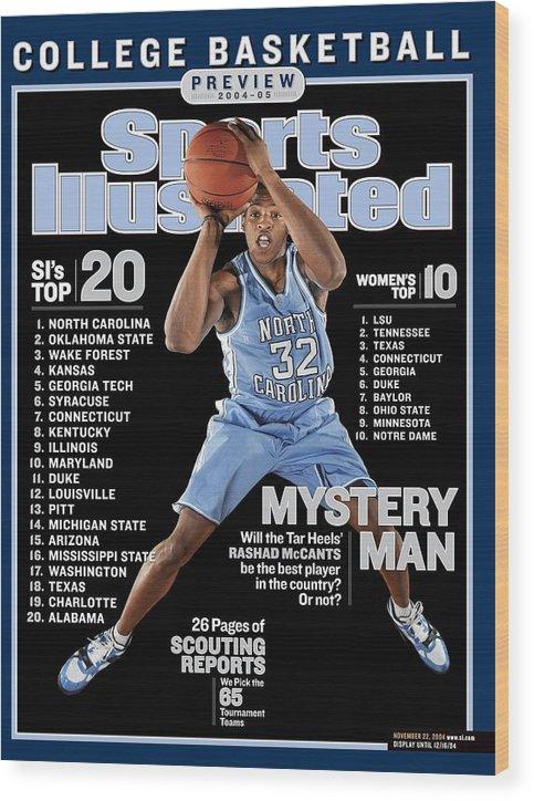 Magazine Cover Wood Print featuring the photograph University Of North Carolina Rashad Mccants Sports Illustrated Cover by Sports Illustrated