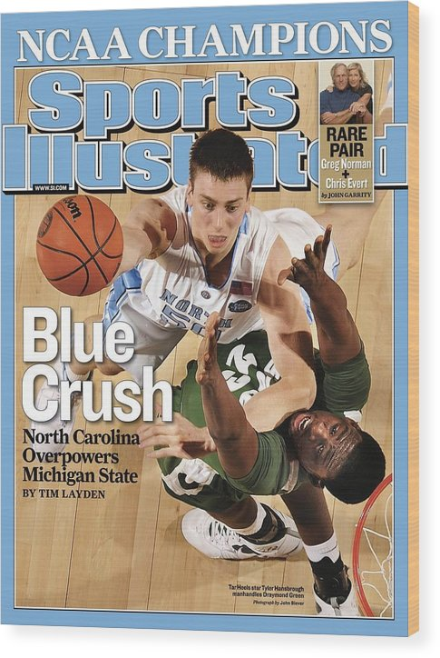 Michigan State University Wood Print featuring the photograph University Of North Carolina Tyler Hansbrough, 2009 Ncaa Sports Illustrated Cover by Sports Illustrated