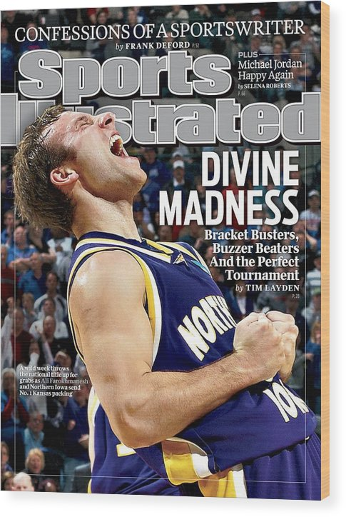 Magazine Cover Wood Print featuring the photograph University Of Northern Iowa Ali Farokhmanesh, 2010 Ncaa Sports Illustrated Cover by Sports Illustrated