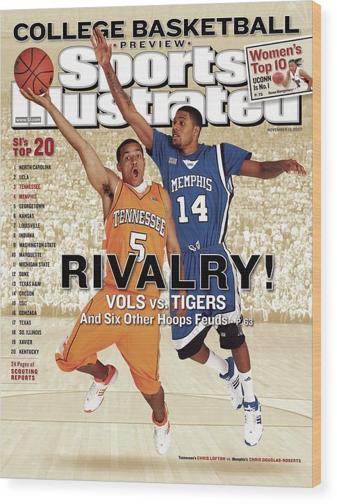 Magazine Cover Wood Print featuring the photograph University Of Tennessee Chris Lofton And University Of Sports Illustrated Cover by Sports Illustrated