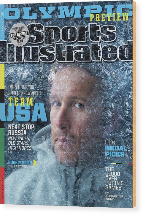 Media Day Wood Print featuring the photograph Usa Bode Miller, 2014 Sochi Olympic Games Preview Issue Sports Illustrated Cover by Sports Illustrated