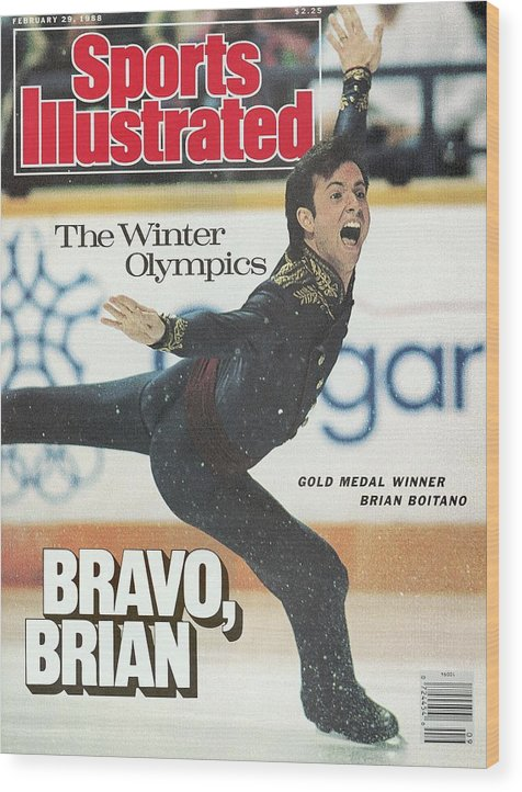 Event Wood Print featuring the photograph Usa Brian Boitano, 1988 Winter Olympics Sports Illustrated Cover by Sports Illustrated