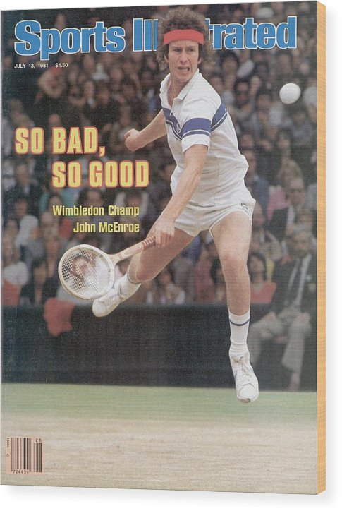 1980-1989 Wood Print featuring the photograph Usa John Mcenroe, 1981 Wimbledon Sports Illustrated Cover by Sports Illustrated