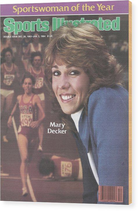 Magazine Cover Wood Print featuring the photograph Usa Mary Decker, 1983 Sportswoman Of The Year Sports Illustrated Cover by Sports Illustrated