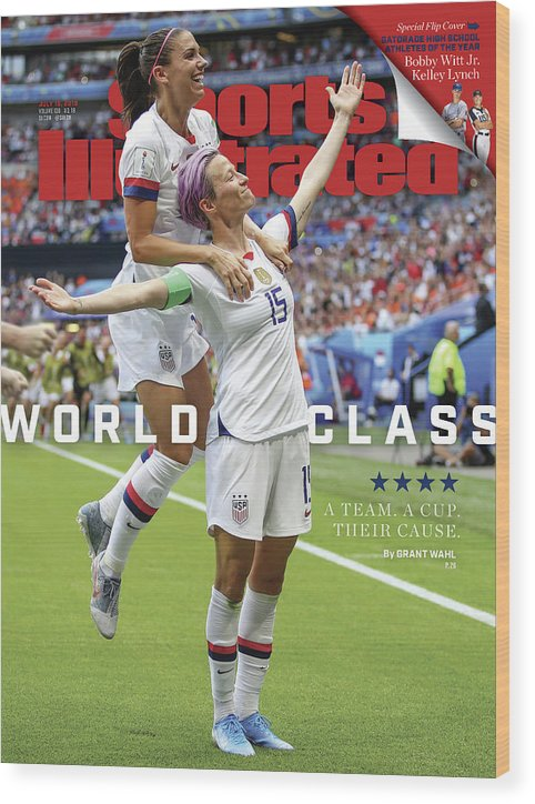 Magazine Cover Wood Print featuring the photograph Usa Vs Netherlands, 2019 Fifa Womens World Cup Final Sports Illustrated Cover by Sports Illustrated