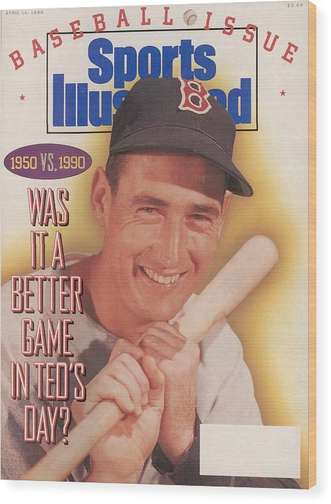 Magazine Cover Wood Print featuring the photograph Was It A Better Game In Teds Day Sports Illustrated Cover by Sports Illustrated