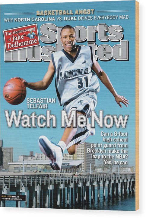 Point Guard Wood Print featuring the photograph Watch Me Now Sebastian Telfair Sports Illustrated Cover by Sports Illustrated