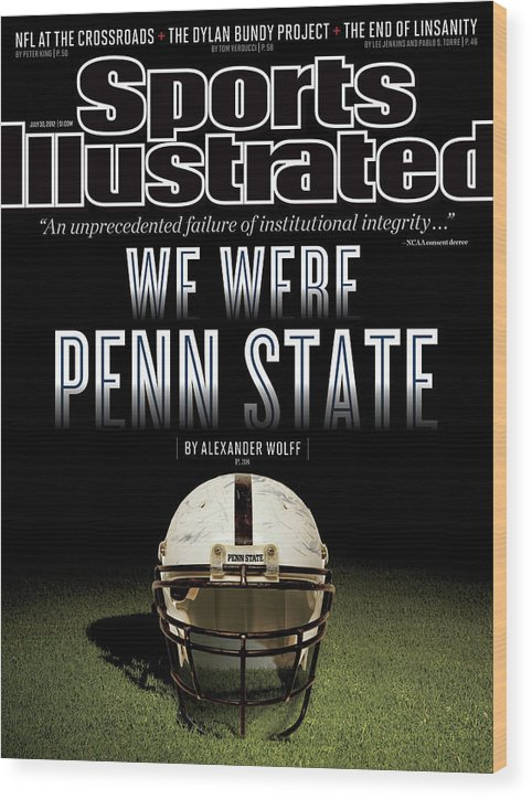Magazine Cover Wood Print featuring the photograph We Were Penn State Sports Illustrated Cover by Sports Illustrated