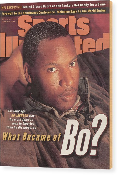 Magazine Cover Wood Print featuring the photograph What Became Of Bo Jackson Sports Illustrated Cover by Sports Illustrated