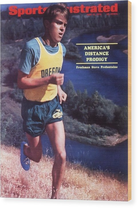 Magazine Cover Wood Print featuring the photograph Oregon Steve Prefontaine Sports Illustrated Cover by Sports Illustrated