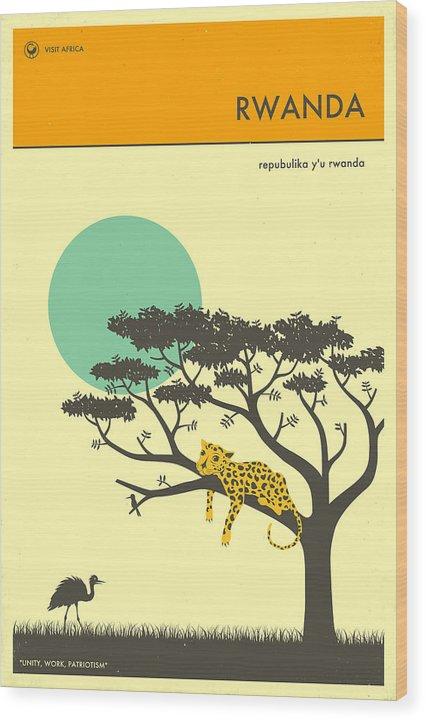 Rwanda Travel Poster by Jazzberry Blue