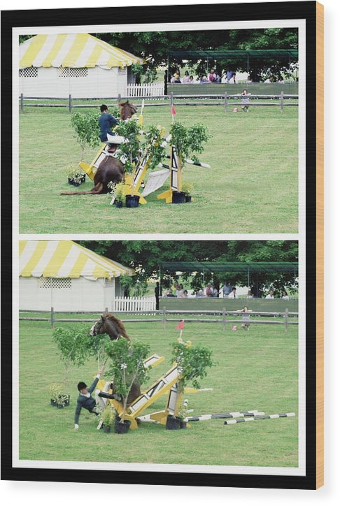 Horseshow Wood Print featuring the photograph 111708-3  Disaster by Mike Davis