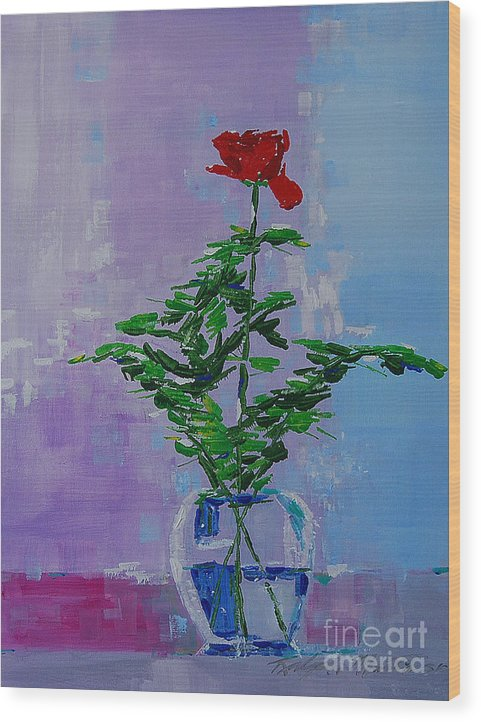 Flowers Wood Print featuring the painting The Gift by Art Mantia