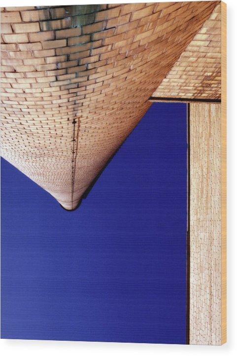 Chimney Wood Print featuring the photograph Vanishing Smokestack by Daniel Goldman