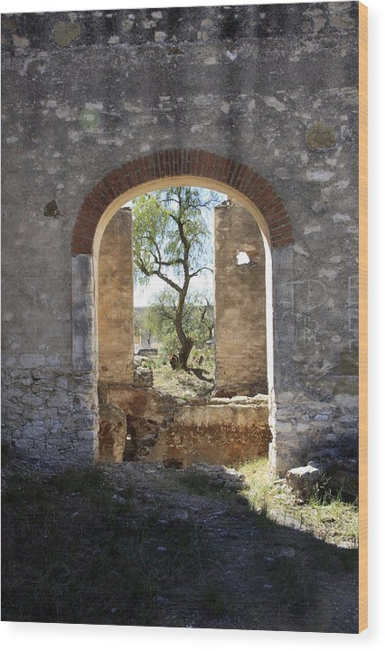 Archway Wood Print featuring the photograph Archway At Pozos by Bryan Davies
