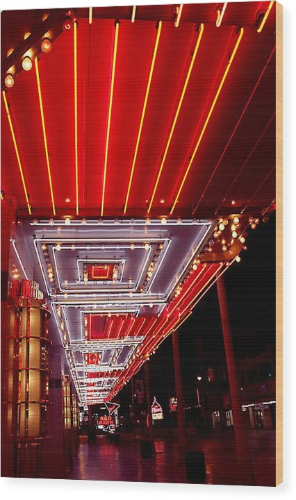 Las Vegas Wood Print featuring the photograph Fremont Street Las Vegas by Bill Buth
