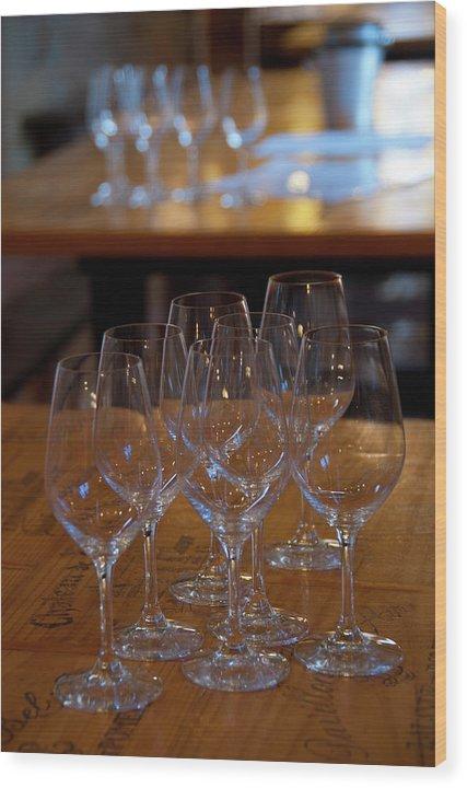 Bordeaux Wood Print featuring the photograph Bordeaux Wine Glasses by Kevin Bain