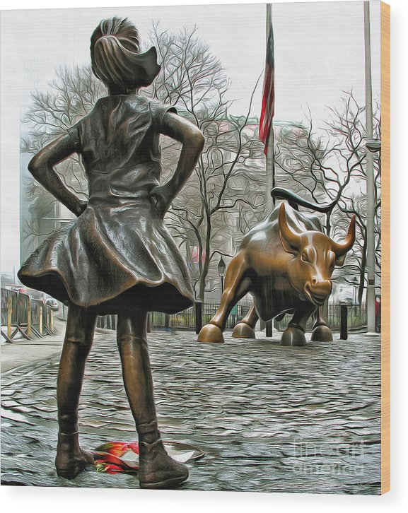 Fearless Girl and Wall Street Bull Statues 5 by Nishanth Gopinathan