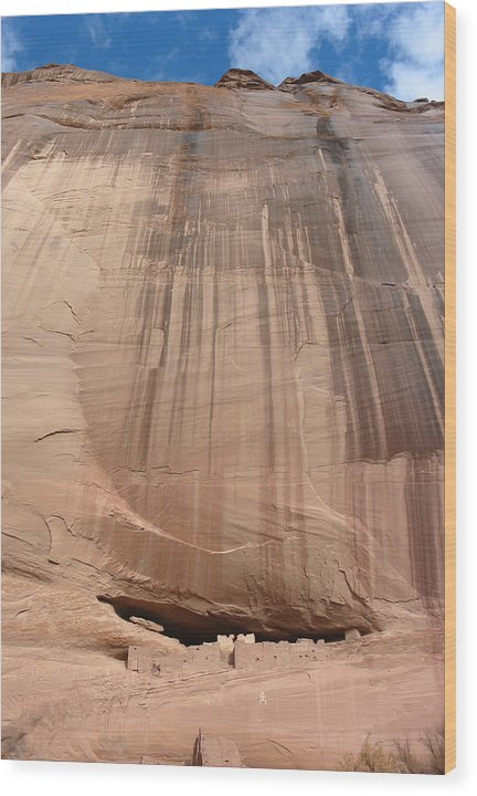 Desert Landscape Wood Print featuring the photograph White House Ruins Canyon De Chelly Az by Bob Bennett