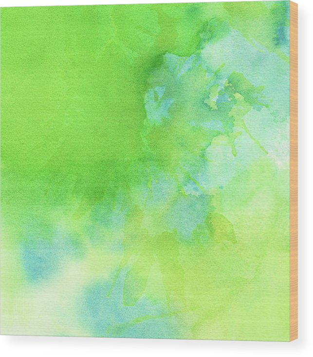 Art Wood Print featuring the photograph Green Blue Background Abstract by Taice