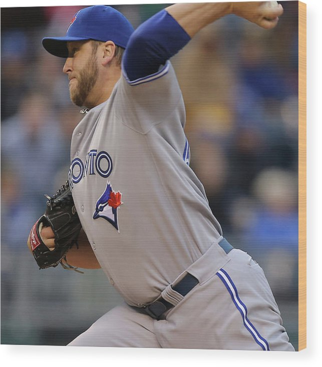 American League Baseball Wood Print featuring the photograph Mark Buehrle by Ed Zurga