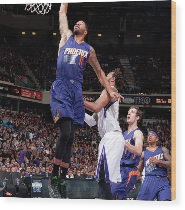 Nba Pro Basketball Wood Print featuring the photograph Markieff Morris by Rocky Widner