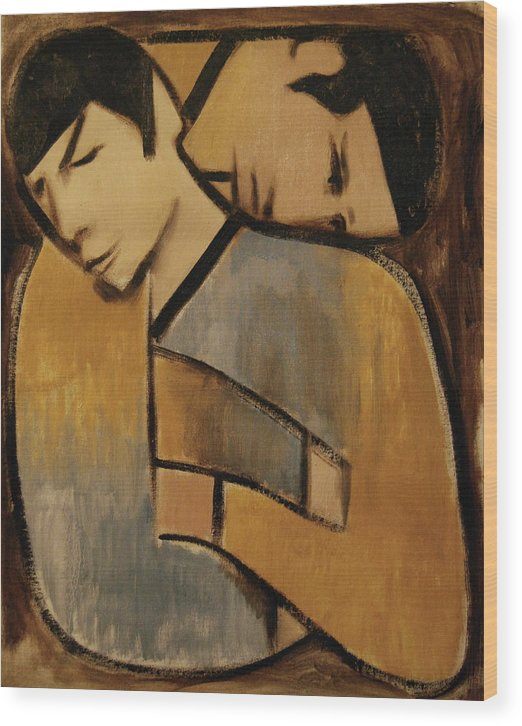 Spock Wood Print featuring the painting Captain Kirk Spock Cubism Art Print by Tommervik