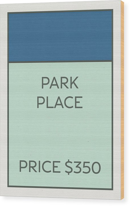 Park Place Vintage Monopoly Board Game Theme Card by Design Turnpike