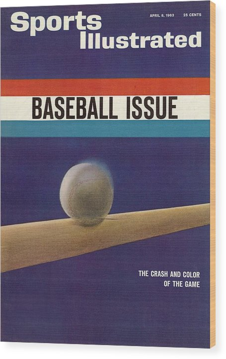 Magazine Cover Wood Print featuring the photograph 1963 Mlb Baseball Preview Sports Illustrated Cover by Sports Illustrated