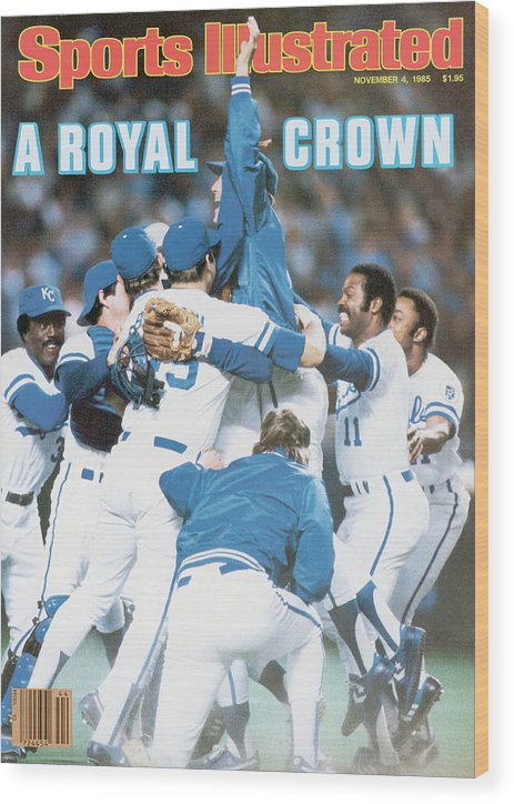St. Louis Cardinals Wood Print featuring the photograph A Royal Crown 1985 World Series Sports Illustrated Cover by Sports Illustrated