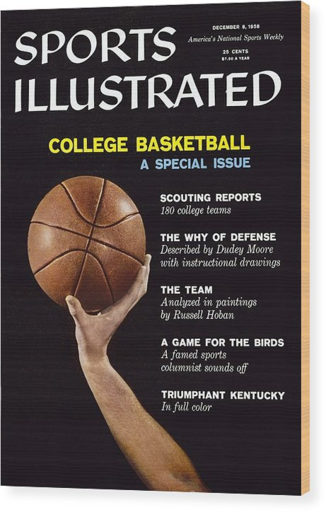 Magazine Cover Wood Print featuring the photograph College Basketball Preview Sports Illustrated Cover by Sports Illustrated
