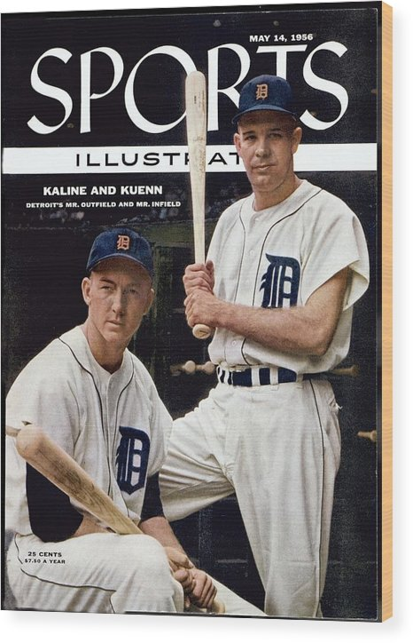 Magazine Cover Wood Print featuring the photograph Detroit Tigers Al Kaline And Harvey Kuenn Sports Illustrated Cover by Sports Illustrated