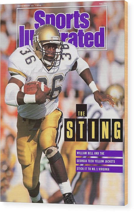 Magazine Cover Wood Print featuring the photograph Georgia Tech William Bell... Sports Illustrated Cover by Sports Illustrated