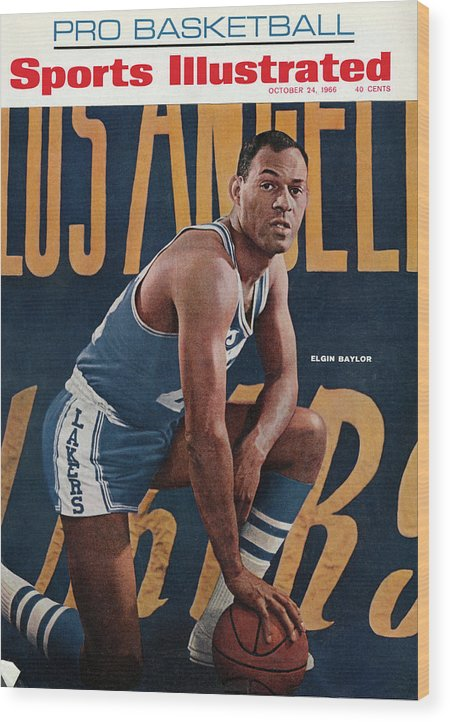Magazine Cover Wood Print featuring the photograph Los Angeles Lakers Elgin Baylor Sports Illustrated Cover by Sports Illustrated