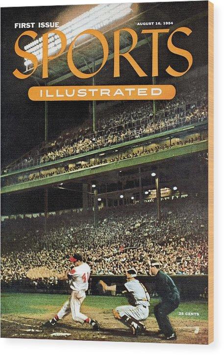 Magazine Cover Wood Print featuring the photograph Milwaukee Braves Eddie Mathews... Sports Illustrated Cover by Sports Illustrated