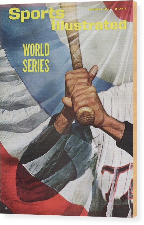 Magazine Cover Wood Print featuring the photograph Minnesota Twins Zoilo Versalles Sports Illustrated Cover by Sports Illustrated
