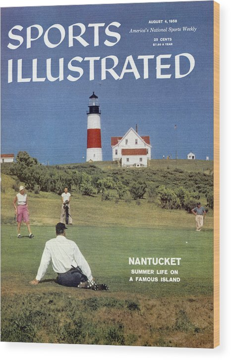 Magazine Cover Wood Print featuring the photograph Nantucket Island Golf Sports Illustrated Cover by Sports Illustrated