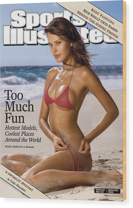Social Issues Wood Print featuring the photograph Petra Nemcova Swimsuit Issue 2003 Sports Illustrated Cover by Sports Illustrated