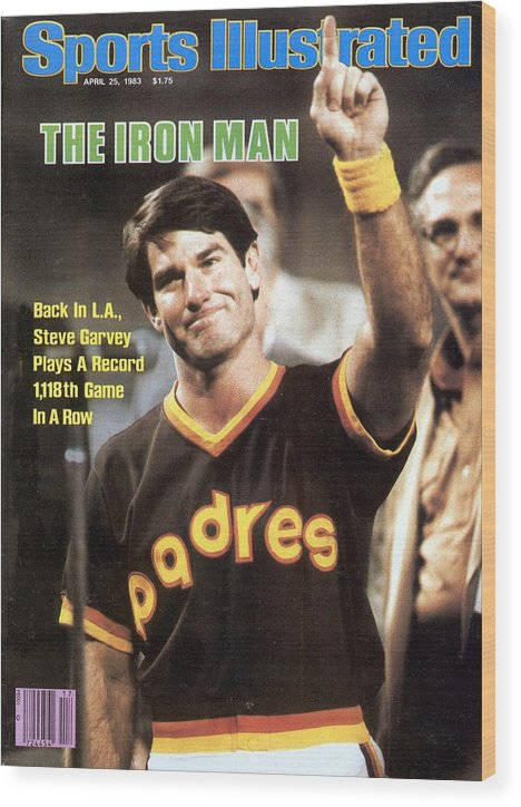 Magazine Cover Wood Print featuring the photograph San Diego Padres Steve Garvey Sports Illustrated Cover by Sports Illustrated