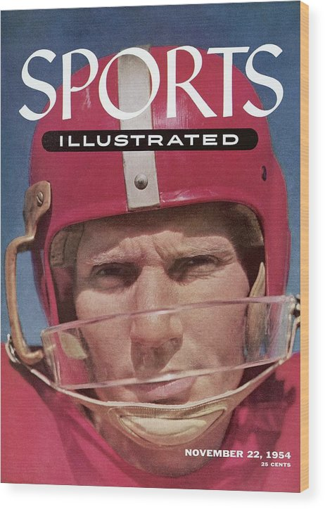 Magazine Cover Wood Print featuring the photograph San Francisco 49ers Qb Y.a. Tittle Sports Illustrated Cover by Sports Illustrated