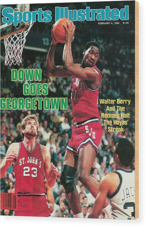 Magazine Cover Wood Print featuring the photograph St. Johns University Walter Berry Sports Illustrated Cover by Sports Illustrated