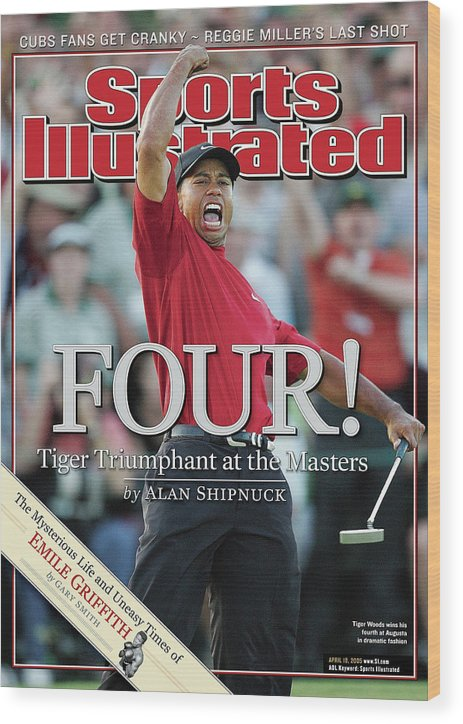 Magazine Cover Wood Print featuring the photograph Tiger Woods, 2005 Masters Sports Illustrated Cover by Sports Illustrated