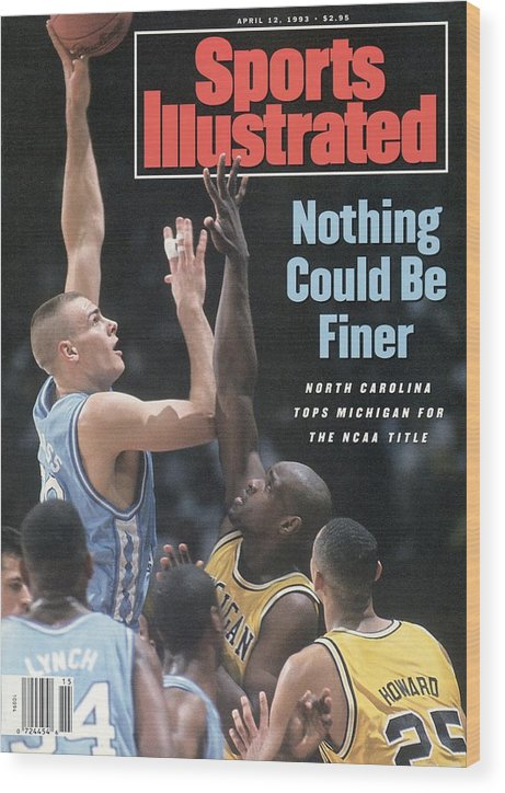 Louisiana Superdome Wood Print featuring the photograph University Of North Carolina Eric Montross, 1993 Ncaa Sports Illustrated Cover by Sports Illustrated