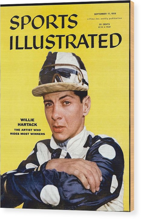Horse Wood Print featuring the photograph Willie Hartack, Jockey Sports Illustrated Cover by Sports Illustrated